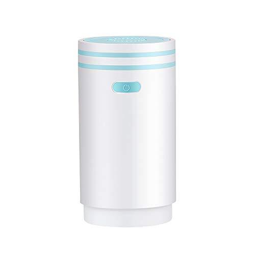 Humidificateur d'air électrique avec veilleuse, sans eau, arrêt automatique, pour voiture, chambre à coucher, etc. Bleu