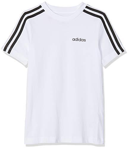 adidas YB E 3S tee Camiseta de Manga Corta, Niños, White/Black, 910Y