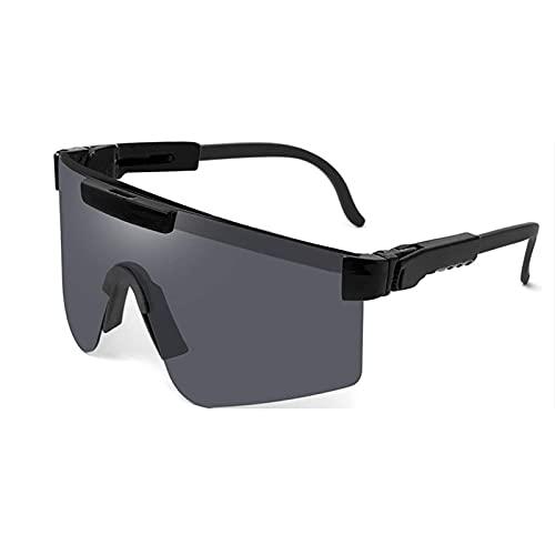 Gafas de Sol Gafas de Sol polarizadas Pit- Vipers Gafas de Ciclismo al Aire Libre, Gafas de Sol polarizadas de Doble Ancho UV400, Gafas a Prueba de Viento, para montañismo, Senderismo (Color : C2)