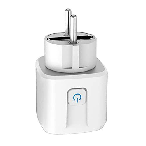 MERIGLARE Adaptador de Enchufe WiFi Inteligente 16A Control de Voz Inalámbrico Toma de Monitor de Potencia