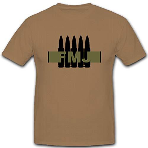 FMJ Full Metal Jacket pieno Cappotto Geschoss kalibet 7,62munizioni Mun Muni cartuccia–T shirt # 5165 sabbia XX-Large
