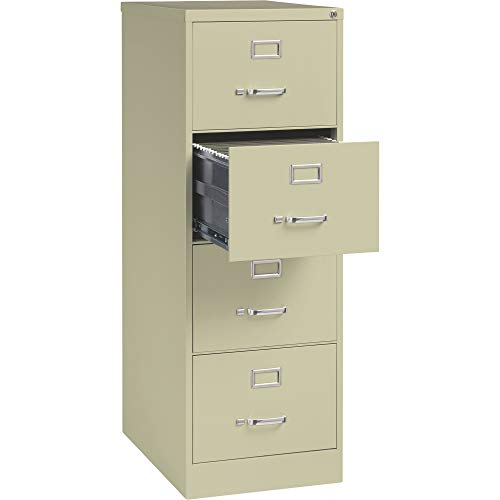 Hirsh Industries 4-Drawer Legal File Cabinet - Putty 18inW x 26 12inD x 52inH Model Number 16701