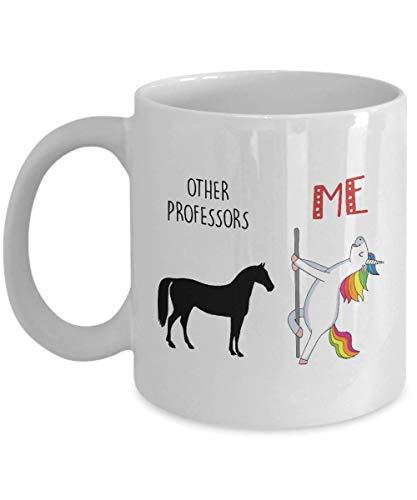 N\A Lustiges Einhorngeschenk für Professor Andere Professoren gegen Mich Pole Dancing Einhorn Kaffee Tee Tasse Tasse