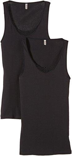 Triumph Damen Unterhemd Yselle Basics Shirt02 2P , Gr. 44, Schwarz (BLACK 04)