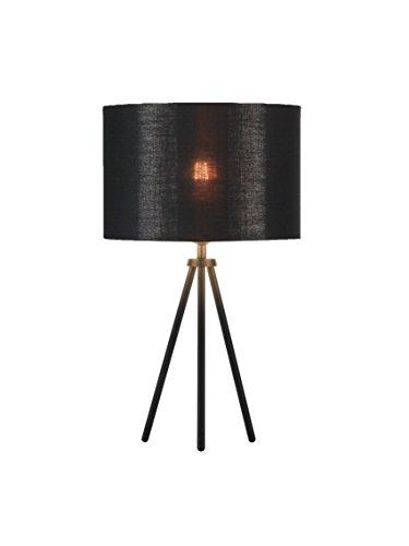 SLV Fenda Mix & Match Lot de 3 lampes de table LED avec abat-jour en tissu Noir/cuivre Ø 30 cm