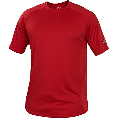Rawlings - Camiseta de manga corta con cuello redondo para hombre