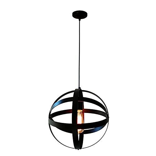 Lámpara de techo Luces colgantes esféricos de metal industrial Muestra el accesorio de luz colgante cambiante decoración para el hogar lámpara de cordón vintage rústico Iluminación de techo de interio