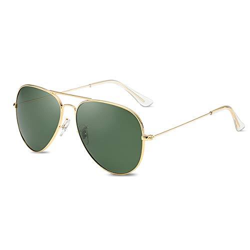 LumiSyne Retro Gafas De Sol Para Hombre Mujer Estilo Piloto Gafas Polarizadas Protección UV 400 Lente Espejo Marco De Metal Para Conducir Viajar