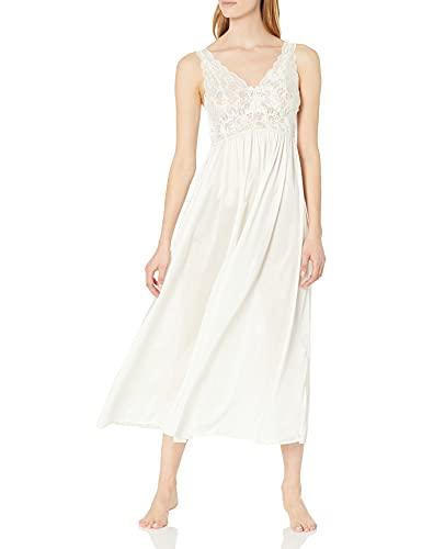 Shadowline Classy Nightgowns for Women Elegant Sleepwear, Ivory, Large