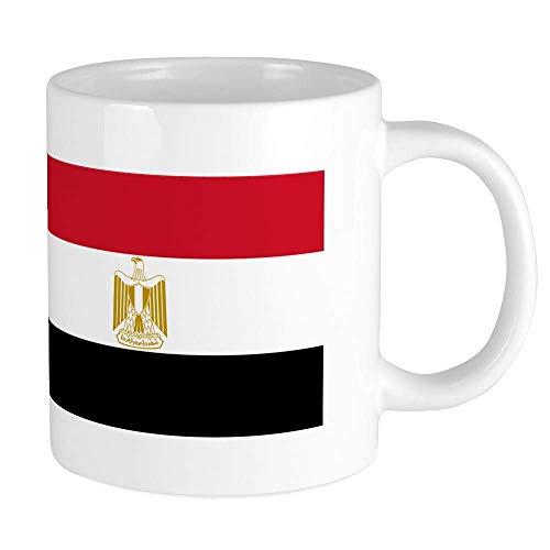 N\A Tazas con Bandera egipcia Mega Taza de café de cerámica de 20 oz