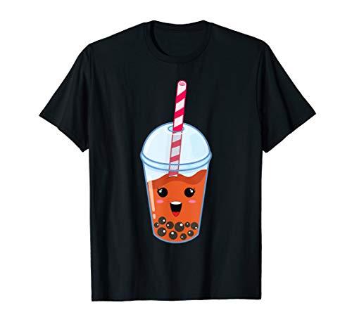 Kawaii Boba Milk Tea   Cute Mango Bubble Tea Lover Gift T-Shirt