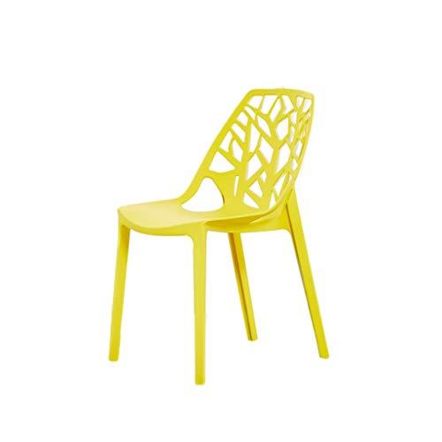 zyy Set di 2 Pezzi Sedie da Pranzo, con Schienale Plastica Computer Sedia per Ufficio può Sopportare 120Kg (Color : D)
