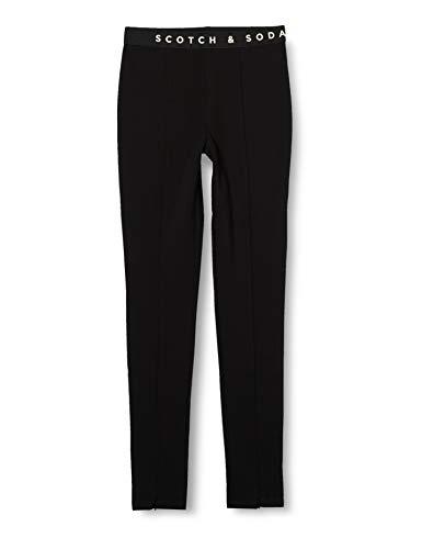 Scotch & Soda R´Belle Girls Club Nomade high Rise Sporty Skinny Pants Sweatpants, Black 0008, 6
