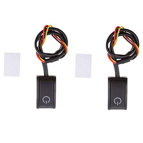 B Blesiya 2 X 12V 200mA Botón de Encendido Del Coche Interruptor de Encendido Y Apagado Control de Luz
