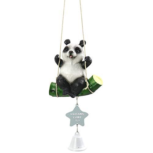 Beito Panda Wind Chime Balançoire Animal Vent Cloche Résine Hanging Ornement Jouet Musical Fenêtre Décoration