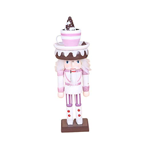 ABOOFAN 26cm Christmas Nutcracker Figurine Cake Topper Wooden Scottish Soldier Figures Painted Desktop Sculpture Ornament Puppet Toy For Holiday Outdoor Tree Hanging Decor