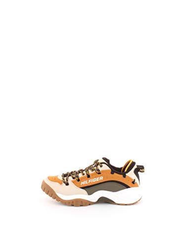 Tommy Jeans Heritage Sneaker Sneaker Herren Beige/Senf/Kaki - 41 - Sneaker Low Shoes