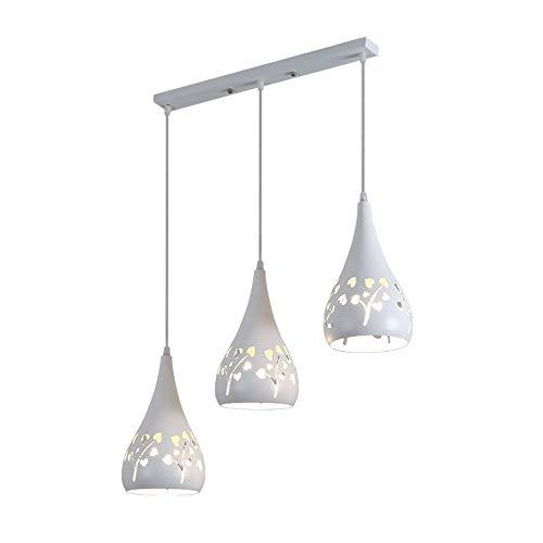 Lyuez driekops recht warm restaurant kroonluchter moderne eenvoudige kroonluchter drie eetkamer eettafel LED-lampen energiebesparende plafondlamp
