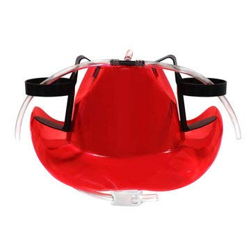 MASUNN Cowboy Drinkhelm Harde Hoed Game Drink Party Dispenser Nieuwjaar Carnaval, Rood, 1