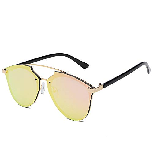 Gafas de Sol Caja Grande Océano Pieza Cara Reparación Doble Polo Gafas De Sol Anti-UV Gafas De Sol Playa Espejo protección para los Ojos (Color : C)