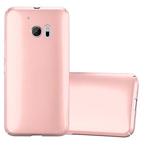 Cadorabo Hülle für HTC 10 (One M10) in Metall ROSÉ Gold – Hardcase Handyhülle aus Plastik gegen Kratzer & Stöße – Schutzhülle Bumper Ultra Slim Back Hülle Hard Cover