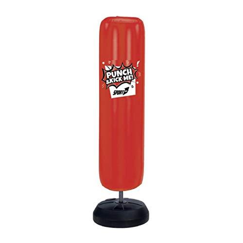 Sport1 Punch&Kick, Punch Bag Gonfiabile Ragazzo, Rosso, CM 43 x 150