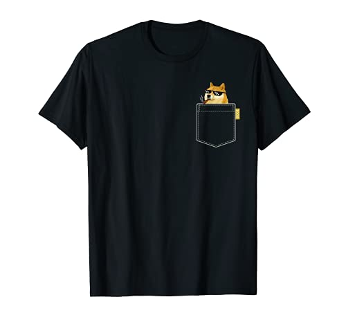 Doge Coin Shirt Camisa de bolsillo Dogecoin to the Moon Camiseta