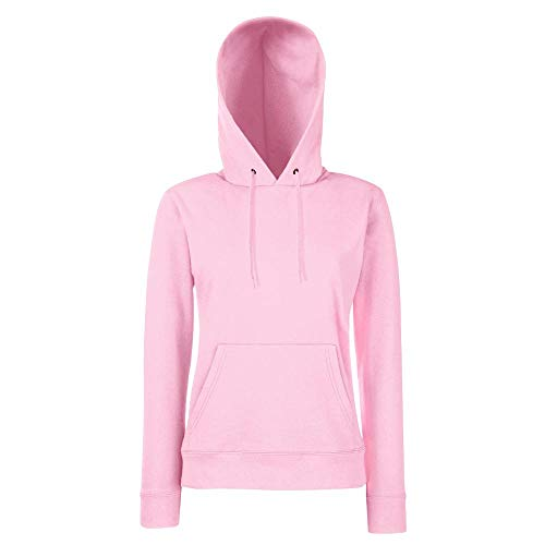 Fruit of the Loom - Lady-Fit Hooded Sweat L,Light Pink
