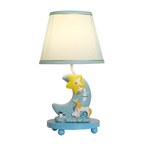 Creative Cartoon Lune Lampe De Table Enfants Chambre Décoration Lampe De Table Garçon Fille Cadeau Chambre Lampe De Chevet Bleu Bureau D'étude Lampe De Lecture Belle