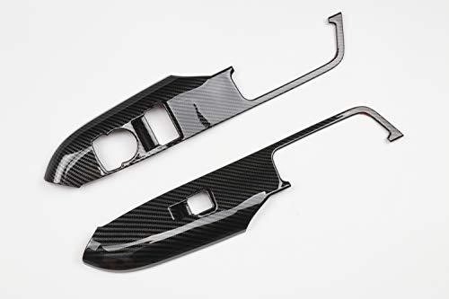 Accesorio Interior para LHD Mustang 2015-2018 Volante Izquierda Unidad Fibra Carbono manija Puerta Ventana botón elevación decoración Marco moldura plástico ABS