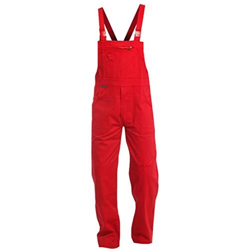 Sweat Life Charlie Barato® Herren Arbeitshose Rot - waschfeste Latzhose - robuste Arbeitslatzhose - Gr. 56
