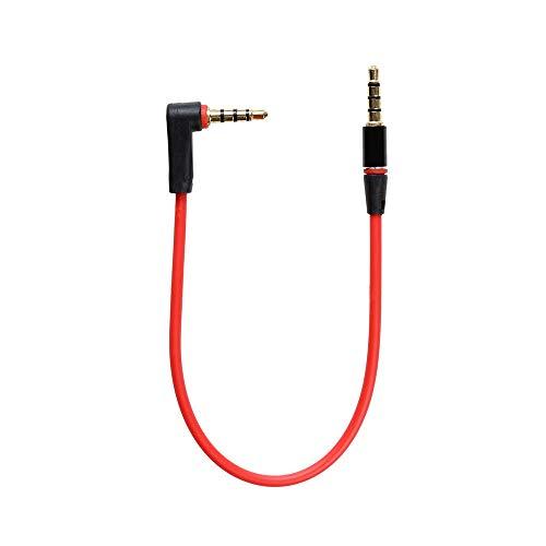 KRS - KA15 - Stereo Verbindungskabel 4 Polig Klinken Stecker 3,5 mm gewinkelt 90° ca 20 cm AUX IN Line In Kabel (KA15)