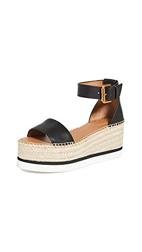 See by Chloe Women's Glyn Platform Espadrilles, Nero, Black, 8 Medium US