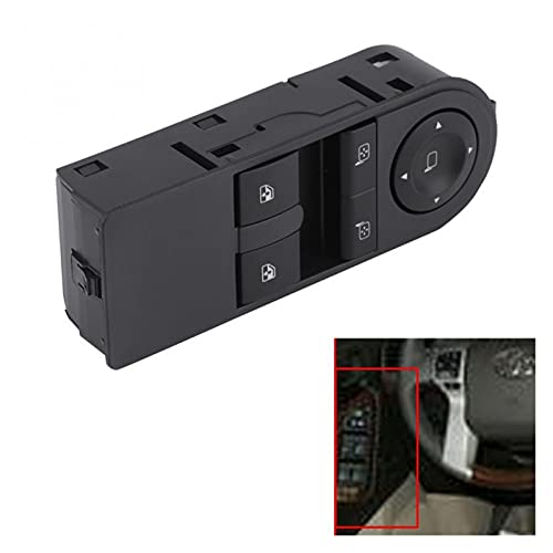 ZHANGJIN Coche Auto Electric Power Master Window Interruptor Interruptor Ajuste para Vauxhall Astra 2005-2010 Zafira B 2005-2012 13228706