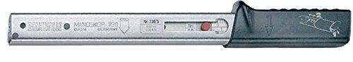 Stahlwille mechanischer Drehmomentschlüssel, Grundgerät mit Aufnahme für Einsteckwerkzeuge Größe 5, 6-50 Nm, 730/5