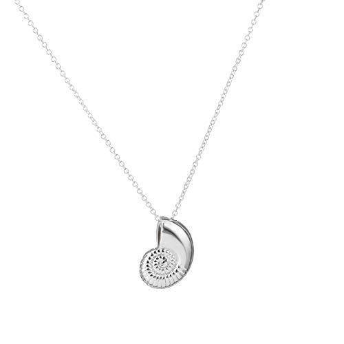 TUDUDU Nueva Cáscara De Voz De Oro Collar Espiral Swirl