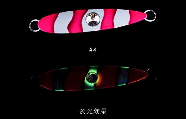 Generic ECOODA Diamond Eye Panther 60g 100g 140g 180g 230g Lead Metal Sinker Jigging Lure Deep Sea Glow Artificial Fishing Bait 100g A4