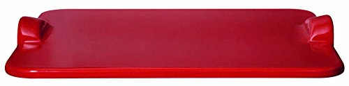 Emile Henry Rectangular Pizza Grill/Oven Stone, 19.6' x 14.0', Burgundy