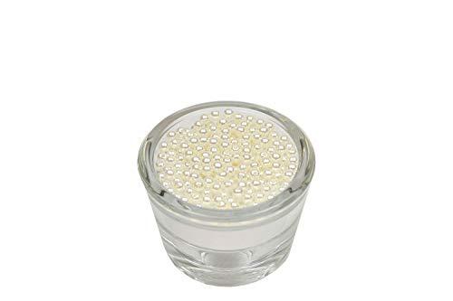 200 Perlen 4mm Ivory/Ecru 820 // Kuststoff Bastelperlen Drahtsterne Wachsperlen Perlenkette