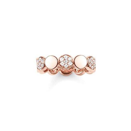 THOMAS SABO Damen-Ring 925 Sterling Silber 750 rosegold vergoldet Zirkonia weiß Gr. 52 (16.6) TR2048-416-14-52