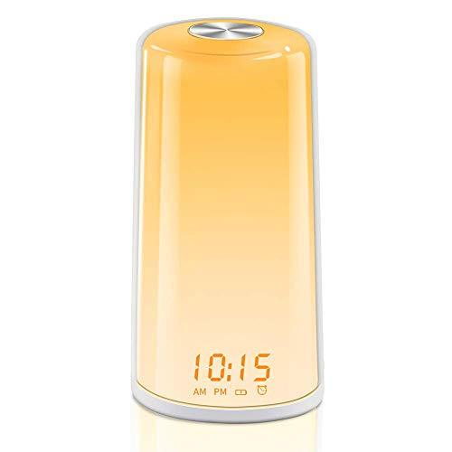 TITIROBA Wake-Up Light, Sunrise Simulation Alarm Clock, Digital LED Clock, Touch Control,...
