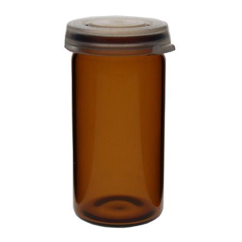 25 x Tablettengläser 10 ml - Farbe: Braun - mit Schnappdeckel / Tablettenglas / Rollrand / Rollrandglas / Schnappdeckelglas / für allgemeine Aufbewahrungszwecke, Proben, Pulver, Schüssler-Salzen, Tabletten, Globuli oder ähnliche Stoffe