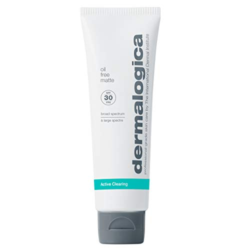 Dermalogica Oil Free Matte SPF30 (1.7 Fl Oz) Daily Broad Spectrum Face Sunscreen for Oily and Acne Prone Skin - Absorbs Excess Oils For an All-Day Matte Finish
