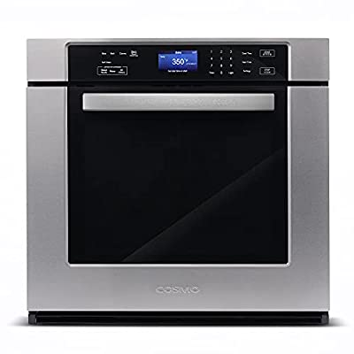 Cosmo COS-30ESWC 30 in. Electric Single Wall Oven with 5 cu. ft. Capacity, Turbo True European Convection, 7 Cooking Modes, Self-Cleaning in Stainless Steel