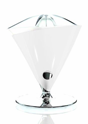 BUGATTI, Vita, Exprimidor eléctrico con jarra en vidrio templado soplado incluida, Capacidad 0,6 litros, Filtro en acero inoxidable, 80 W, Color Blanca