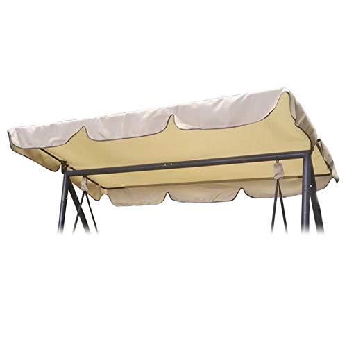 OTOTEC altalena di ricambio per esterni, impermeabile, copertura per altalena e portico, materiale resistente, colore: beige, 197 x 110 cm