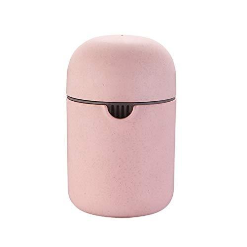 MINI MANITA MUJER JURICER ORANCE SPEEZER TAPA ROTACIÓN PRENSA ANTI-SLIP PARA PORRÁTICO DE LIMÓN PEQUEÑA MÁQUINA DE JURICER HOGAR (Color : Pink)