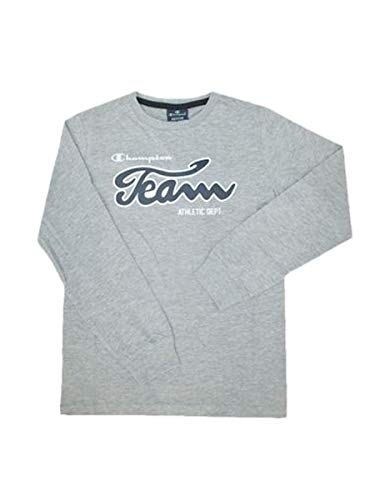 Champion Kids Long Sleeve Shirt Training Sports Fashion Boy Fitness 305023-EM006 (128/7-8 Years) Gray