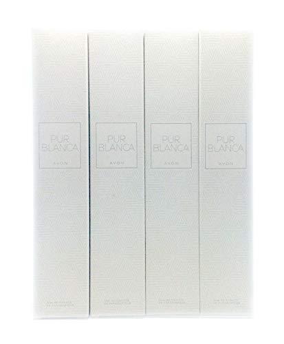 4 x Avon Pur Blanca Eau de Toilette Pour Femme 50ml (Lot de 4 pièces)