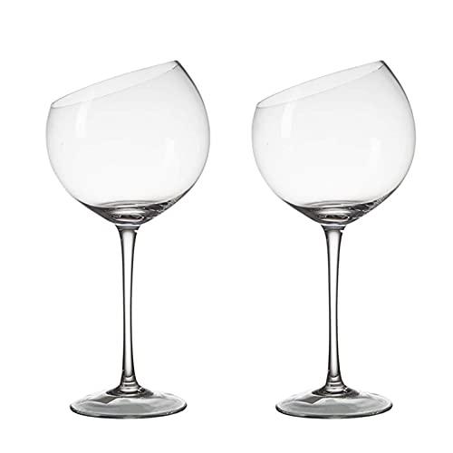 Copa de Vino Tinto,Calidad uso Diario en el Hogar Barra de Copas de Vino Suministros Creativos Cumpleaños y Regalo del Día de San Valentí (Capacidad: 500 ml)